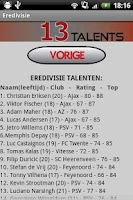 Screenshot of FIFA 13 Talenten