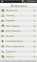 Screenshot of Regions Bank