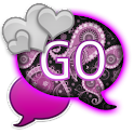 GO SMS - Purple Paisley SMS icon