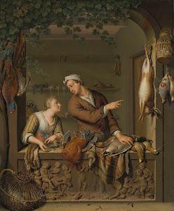 RIJKS: Willem van Mieris: The Poultry Seller 1733