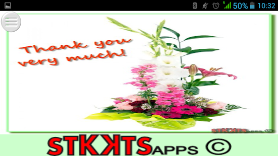 Messages with flowers - screenshot