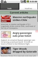 Screenshot of UK & World News