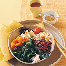 Vegetable-Rice Bowl with Miso Dressing