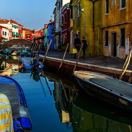 by Adeline Tan - Buildings & Architecture Homes ( building, colourful, burano, homes, italy, , water, device, transportation )
