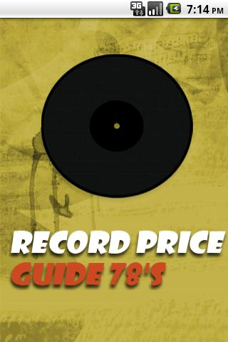 Vinyl Record Price Guide 78's