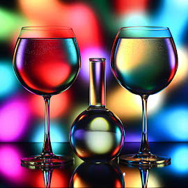 Glasses full of hues by Rakesh Syal - Artistic Objects Glass