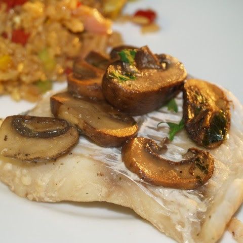 Cod With Mushrooms, Garlic And Vermouth
