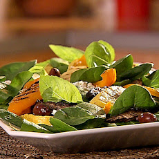 Spinach Salad with Grilled Mediterranean Vegetables