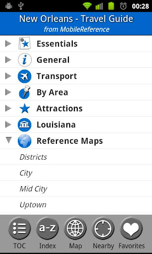 New Orleans USA - Guide Map