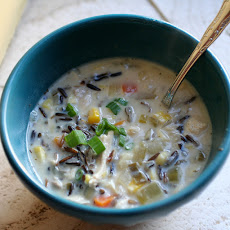 Sherried Cream of Chicken and Wild Rice Soup