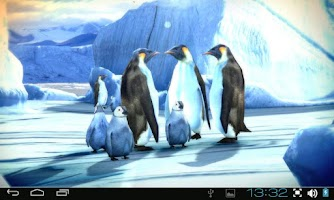 Screenshot of Penguins 3D Pro Live Wallpaper