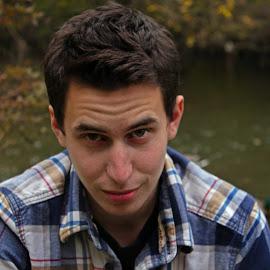 Tyler by Shannon Vandevenne - People Portraits of Men ( plaid, handsom, focus, men, portrait )