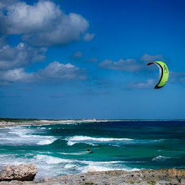 Kite surfing off the coast of Mexico by Brent Morris - Sports & Fitness Watersports ( my lightroom )