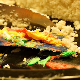 Mmmmm.....CAKE! by Amy Clark - Food & Drink Candy & Dessert ( cake, frosting, clown, server, knife )