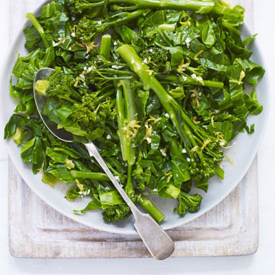 Spring Greens With Lemon Dressing