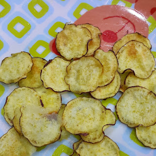 Microwave Baked Sweet Potato Chips