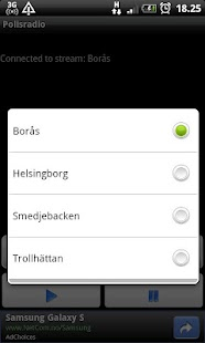 Police scanner - Sweden - screenshot