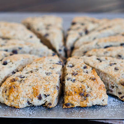 Slimmed Down Chocolate Chip Buttermilk Scones
