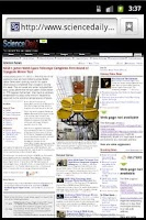 Screenshot of Daily Science