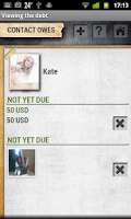 Screenshot of My Debts Lite