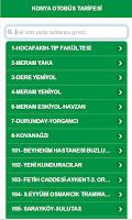Screenshot of Konya Otobüs Tarifesi