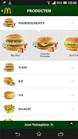 Screenshot of McDonald's Nederland