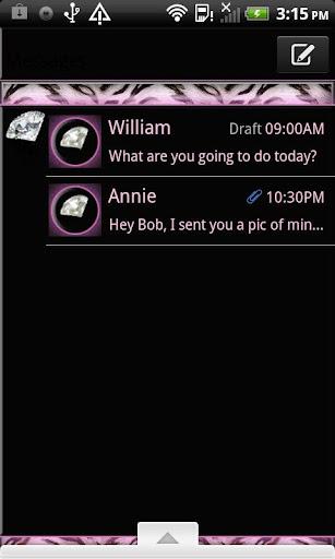 GO SMS THEME DiamondTiger4U