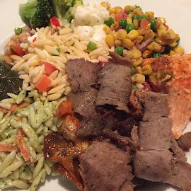 Healthy food, Greek food by Laddawan Donohue - Food & Drink Plated Food ( dinner, lunch, greek food, healthy food )