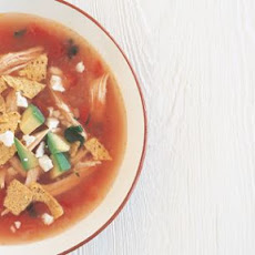 Chipotle Tortilla Soup with Turkey and Lime