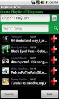 Screenshot of Ringtone Playlist Lite