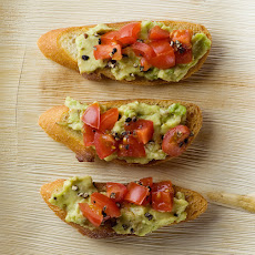 Tomato and Avocado Crostini