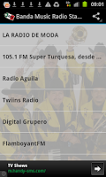 Screenshot of Banda Music Radio Stations