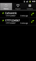 Screenshot of Callcentric