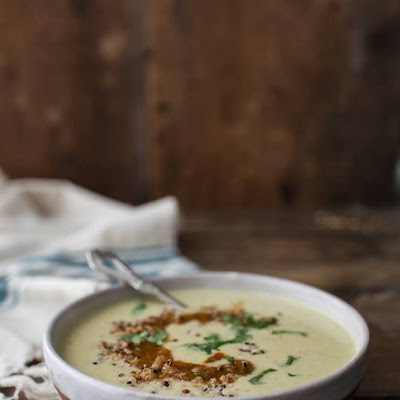 Sweet Corn Soup with Harissa