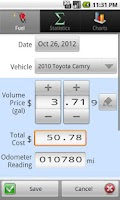 Screenshot of GasLog - Gas Mileage Tracker