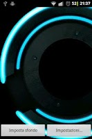 Screenshot of Neon Disk Live Wallpaper