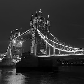 Tower Bridge by Night by Cristi Radulescu - Buildings & Architecture Bridges & Suspended Structures