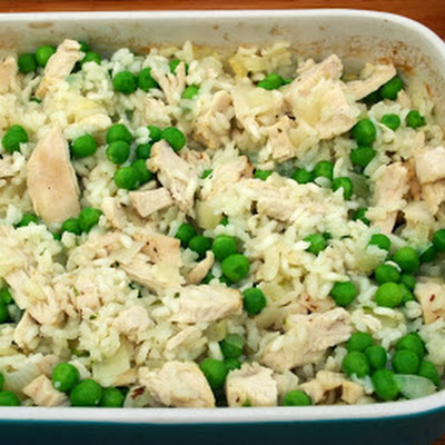 Turkey, Pea And Champagne Oven-baked Risotto
