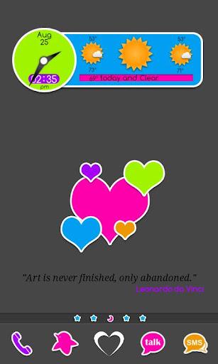 Go Launcher: Rainbow Stickers