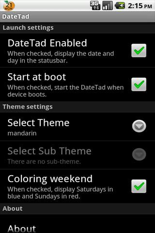 DateTad for Android1.6
