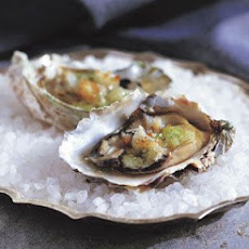 Oysters with a Garlic-Tarragon Crust