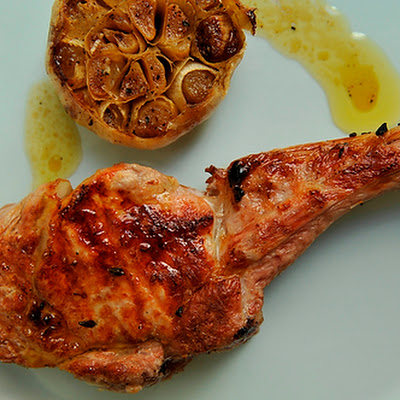 Veal Chops Lombatina with Roasted Garlic