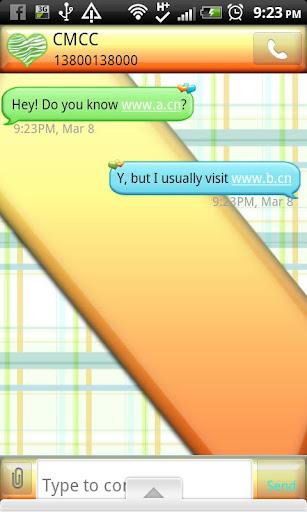 GO SMS THEME SpringOrange