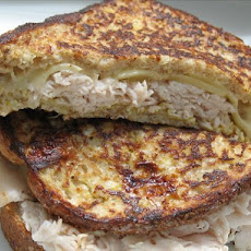 French-Toasted Ham, Turkey and Cheese Sandwich