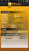 Screenshot of iPhyto (par Agridata)