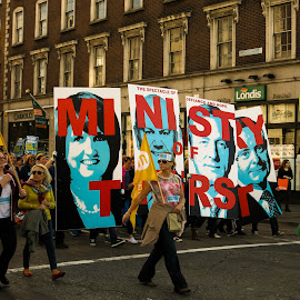 Water Charges Protest  by Jack Chan - News & Events Politics ( dublin, street, protest, water charges, people )