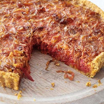 Beet & Caramelised Onion Tart