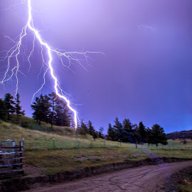 Lightning Storm by Jeremy Solesbee - Landscapes Weather ( picasa, montana, facebook, fiona, trip, road, kristen )