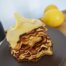 Lemon Oatmeal Pancake with Fresh Lemon Curd