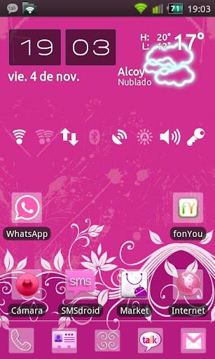 GO Launcher Happy Pink Theme